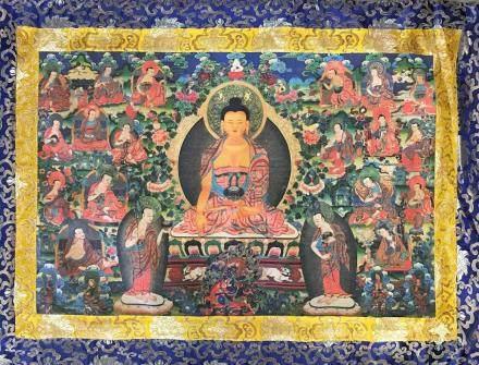 Chinese Thangka of Shakymuni on Silk