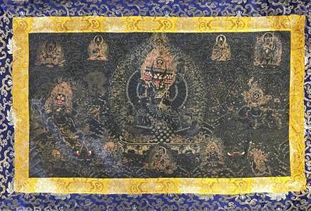 Chinese Thangka of Vajrapani Bodhisattva on Silk