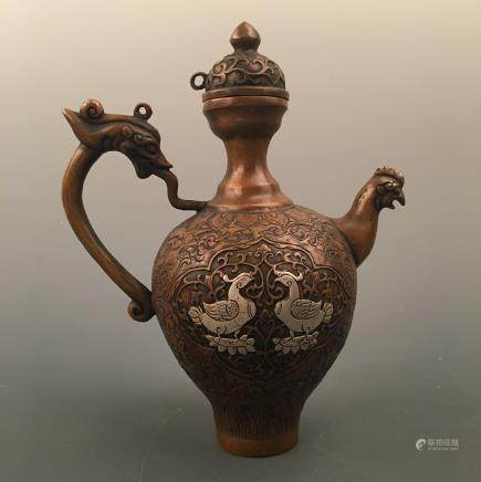 Chinese Bronze Picther