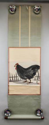 Lin Fengmian 1900-1991 Rooster Ink on Paper