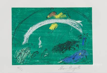 Marc Chagall Russian-French Signed Litho 42/75