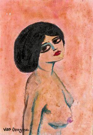 Kees Van Dongen Dutch Fauvist Oil on Canvas