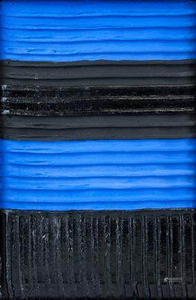 Pierre Soulages French Tachisme Mixed Media '87
