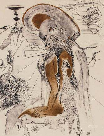 Salvador Dali Spanish Surrealist Signed Litho EA
