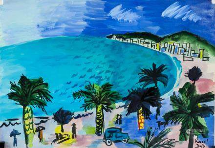 Raoul Dufy French Fauvist Watercolor on Paper