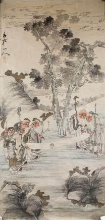Gusong Shanren Chinese Watercolor Immortals