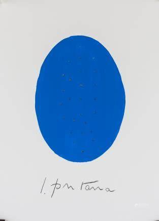 Lucio Fontana Argentine Spatialist Tempera Paper