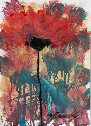 Cy Twombly American Abstract Acrylic on Paper