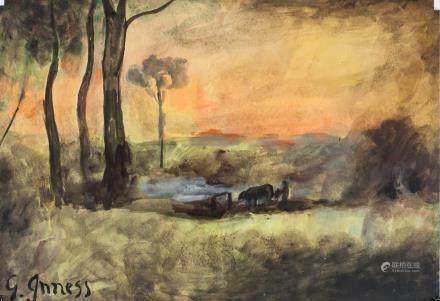 George Inness American Hudson River School Oil