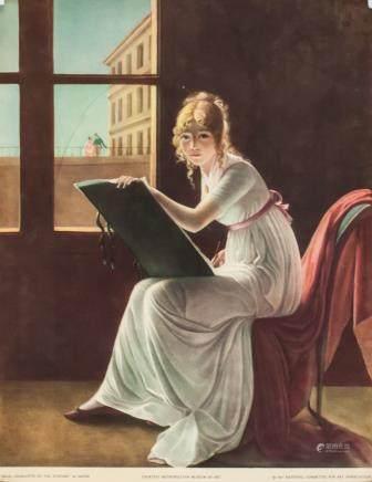 Jacques David Litho Mlle Charlotte du Val D'Ognes