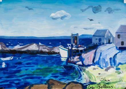 George Bellows American Realist Gouache Oil Paper