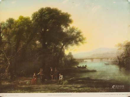 """Claude Lorrain NYGS Lithograph Paper """"The Ford"""""""