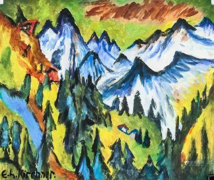 Ernst Ludwig Kirchner German Expressionist Oil
