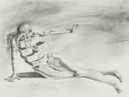 Salvador Dali Spanish Surrealist Pencil on Paper