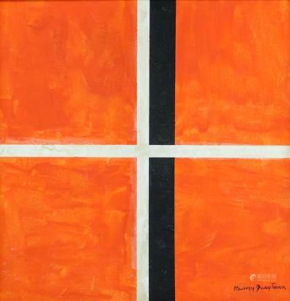 Harvey Quaytman American Abstract Oil on Canvas