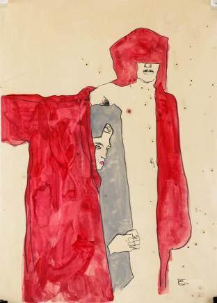 Egon Schiele Austrian Expressionist Mixed Media