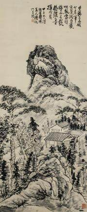 Shi Tao 1642-1708 Chinese Ink Mountain Landscape