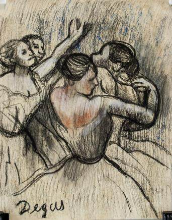 French Impressionist Pastel on Paper Signed Degas