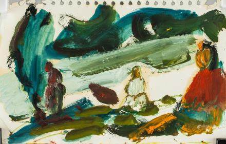 Paul Chidlaw American Pop Oil on Paper