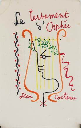 Jean Cocteau French Surrealist Mixed Media Paper