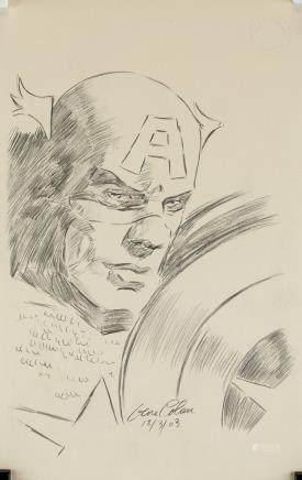 Gene Colan American Pop Pencil on Paper