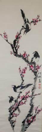 Xiao Lang 1917-2010 Chinese Watercolor Birds