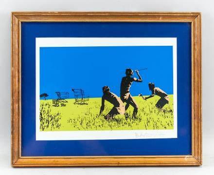 Banksy British Pop Art Silkscreen on Paper