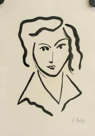 Henri Matisse French Fauvist Ink Portrait