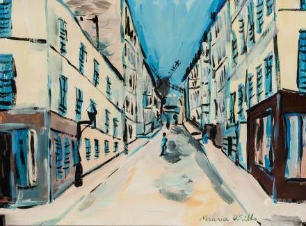 Maurice Utrillo French Modernist Oil on Paper