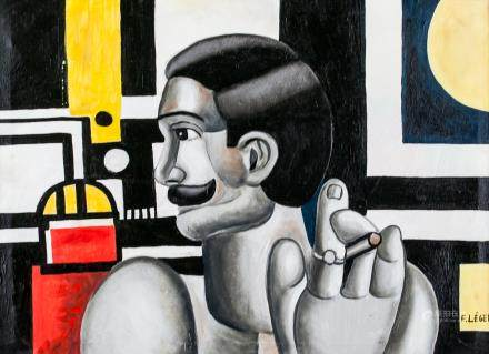 Fernand Leger French Cubist Oil on Canvas