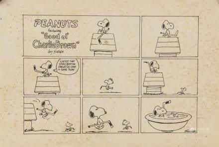 Charles Schulz American Pop Art Ink Paper