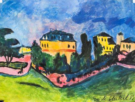 Erich Heckel German Expressionist Oil on Paper