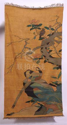 CHINESE EMBROIDERY KESI TAPESTRY OF BIRD AND FLOWER