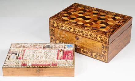 TUNBRIDGEWARE SEWING BOX