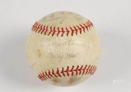 1957 YANKEES TEAM SIGNED BASEBALL