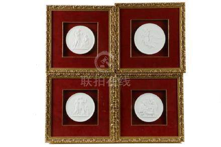 (4) FRAMED ROYAL COPENHAGEN PLAQUES