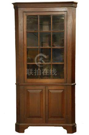 WALNUT COUNTRY CORNER CUPBOARD