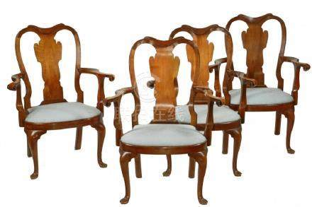 (SET OF 7) QUEEN ANNE STYLE DINING OR CONFERENCE