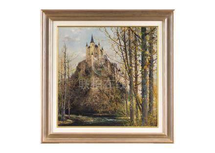 武本 春根〈1939-〉塞哥維亞城堡 城下清流 西班牙・塞哥維亞