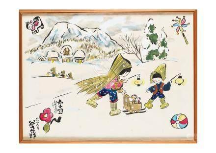 谷内 六郎雪國越後鳥追祭
