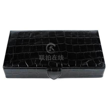 ASPINAL OF LONDON - a men's cufflink travel box.
