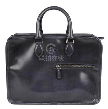 BERLUTI - a leather Deux Jours briefcase. Crafted from