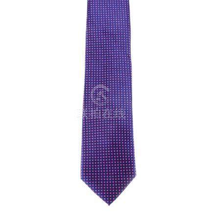 BRIONI - a silk tie. Designed with a purple and pink