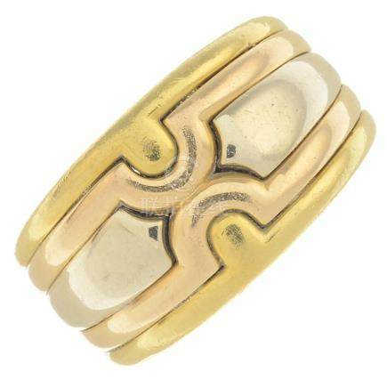 BULGARI - an 18ct gold band ring. Designed as a