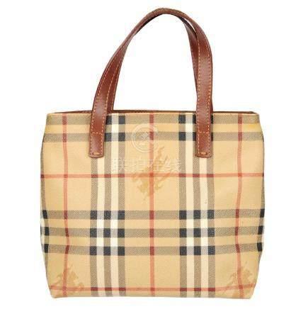 BURBERRY - a Mini Haymarket Check handbag. Designed
