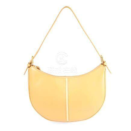 BURBERRY - a leather hobo handbag. Featuring a beige