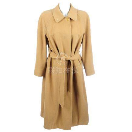 BURBERRY - a wool and camelhair knee-length coat.