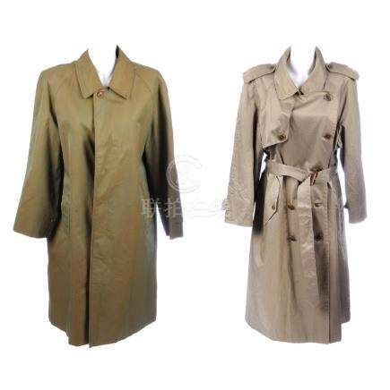 BURBERRY - a trench coat and an overcoat. To include a