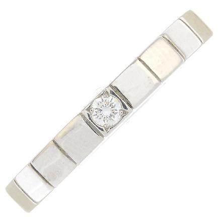 CARTIER - a diamond 'Lanieres' ring. Featuring a