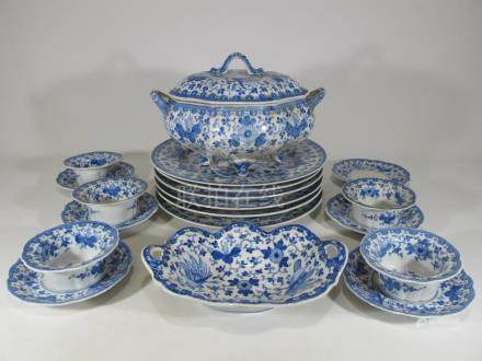 Vintage Chinese set of 19 porcelain pieces